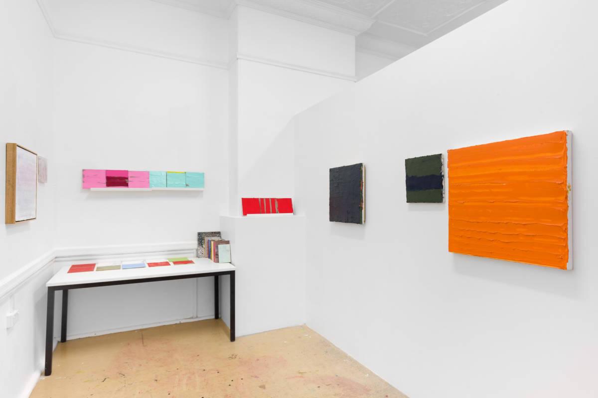 Lisa Patroni artist studio Waverley 2019 monochrome paintings