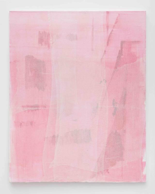 Lisa Patroni monochrome oil cotton gauze art