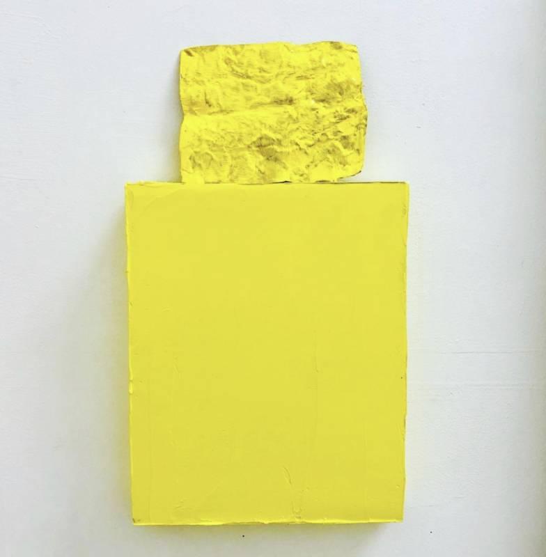 Lisa Patroni monochrome painting yellow Waverley 2019