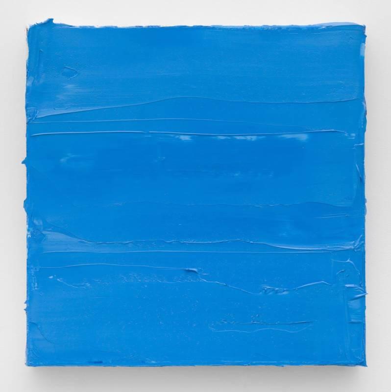 Lisa Patroni monochrome painting blue art - Winter Magic Bondi Pavilion 2019