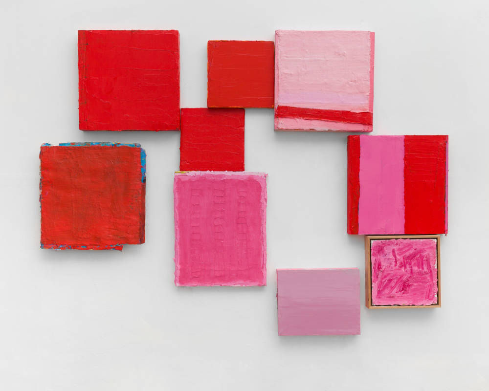 Lisa Patroni monochrome paintings Waverley Studio 2019 pink red