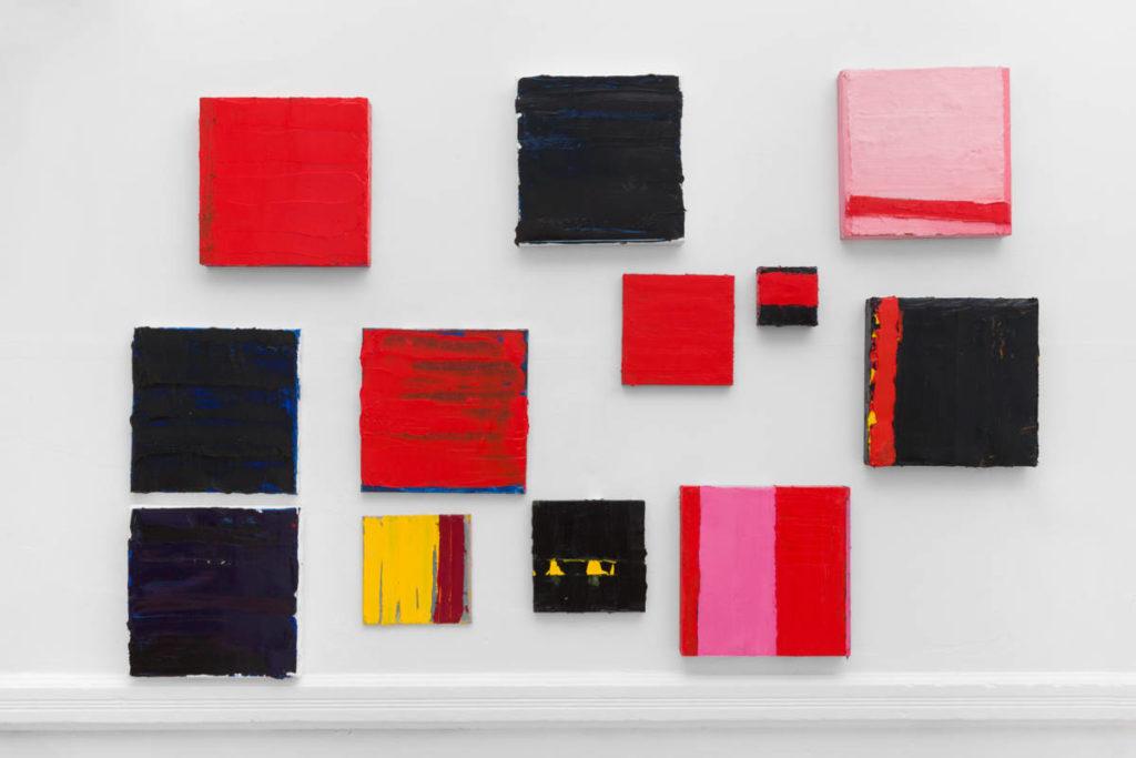 Lisa Patroni monochrome paintings Waverley Studio 2019 small square